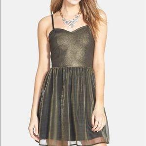 Frenchi Metallic Skater Dress